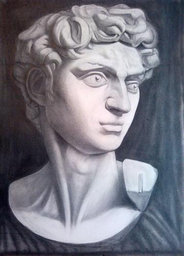 素描石膏头像