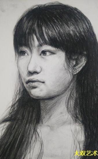 学生素描头像作品
