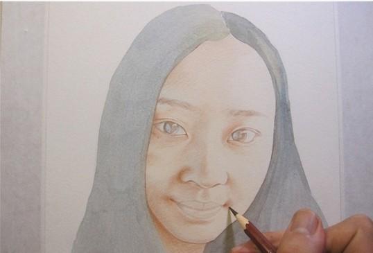 彩铅人物画,介于素描和色彩之间的绘画! - 惠州美术